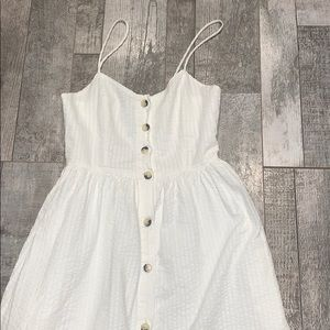 ZARA button down midi dress XS